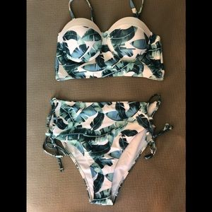 Shein two piece bikini. High waisted.